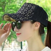 防晒帽沙滩遮阳帽嘻哈棒球帽鸭舌帽子女夏天韩版潮户外