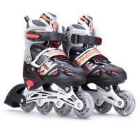 直排闪光可调旱冰鞋滑冰鞋男女轮滑鞋溜冰鞋儿童全套装耐磨闪光轮