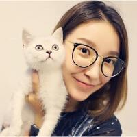 琳达全框眼镜框女款韩版大脸潮复古圆框超轻眼镜架平光镜2017