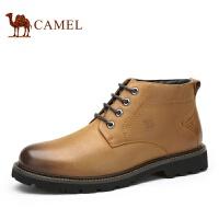camel 骆驼男靴 英伦休闲男靴 秋季新款短筒保暖靴子男