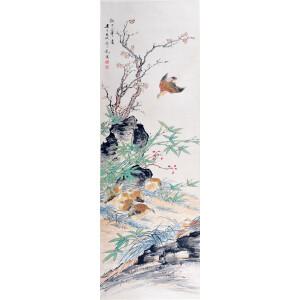 京津画派著名的花鸟画家   颜伯龙《拟元人笔意》
