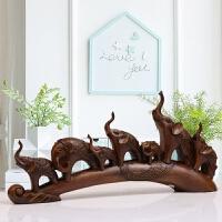 象牙树脂摆件创意小象摆件办公室摆设家居客厅电视柜酒柜装饰品乔迁礼物