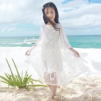 女童夏季雪纺沙滩裙儿童公主裙长裙中大童韩版女孩海边度假连衣裙