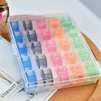 针线绕圈多功能家用缝纫机彩色透明梭心盒装塑料梭心轮25个盒 5色盒装