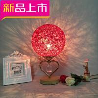 创意台灯卧室婚房床头灯装饰温馨台灯红色一对结婚长明灯婚庆礼物