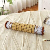 夏季麻将竹凉席靠垫套中式沙发抱枕套腰靠腰枕 床头靠枕套 糖果枕