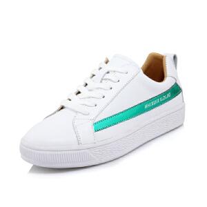 O'SHELL法国欧希尔新品065-7201-1休闲头层牛皮里外全皮真皮平底女士板鞋小白鞋
