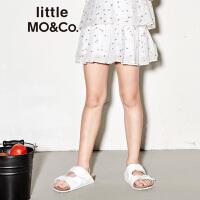 【到手价289】littlemoco夏季新品女童半身裙彩色圆点图案松紧腰儿童短裙