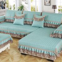 欧式皮沙发垫四季通用型防滑坐垫子简约现代布艺沙发套沙发罩全盖