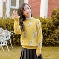 女童毛衣新款儿童中大童套头针织打底衫