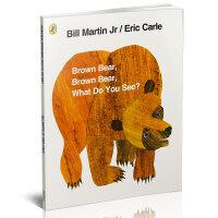 Brown Bear, Brown Bear, What Do You See? 棕熊、棕熊,你看到了什么?(40周年纪念版)艾瑞克卡尔亲子绘本