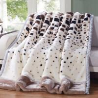 【支持礼品卡】拉舍尔毛毯加厚双层盖毯珊瑚绒保暖冬季宿舍单人双人毯子y6n