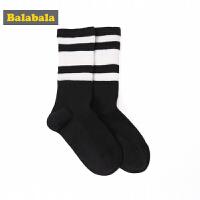 巴拉巴拉儿童袜子 中大童棉袜秋季薄款男童长筒袜女童休闲运动袜