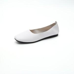 ELEISE美国艾蕾莎新品156-055韩版超纤皮平跟女士单鞋
