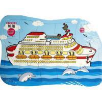 轮船(3-5岁15块)/超大益智拼图 正版 袁舒,杨芳 绘 9787536565470