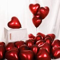 爱心金属气球装饰结婚中秋节造型房间心形礼物生日红色气球桃心网红婚房布置婚庆场景婚礼礼品
