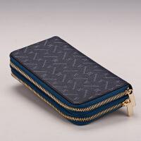 女士钱包大容量新款女式钱包长款双拉链真大钞夹皮手拿包
