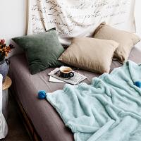 毛球兔兔绒毛毯办公室空调毯单双人沙发午休盖毯保暖毛绒毯子