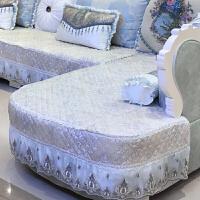 欧式布沙发坐垫 简约现代客厅U型沙发套组合简欧布艺防滑沙发套罩 浅蓝色 U型组合【定制尺寸咨询客服】