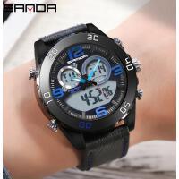 三达男士手表男表学生电子表防水商务手表时尚潮流韩版腕表