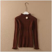 冬季修身打底衫半高领长袖保暖套头针织衫女50693