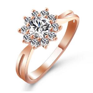 先恩尼 钻戒 红18k金群镶0.46克拉玫瑰金 女款钻石戒指 挚爱HFGCH352 正规证书真品保证