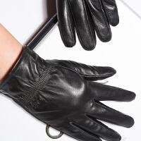 时尚新款羊皮手套男薄款开车真皮手套韩版保暖防滑男士手套 可礼品卡支付