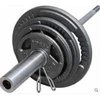 持久耐磨耐用健身杠铃器材奥杆杠铃套装大孔手抓烤漆片卧推举重杠铃