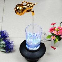 创意魔法悬浮水龙头魔术七彩水杯灯隔空取水悬空装饰牛顿永动摆件