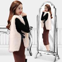 马甲外套女中长款秋冬新款韩版时尚百搭毛毛外套 均码