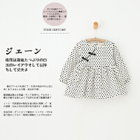 GY102-春新款童装女童盘扣圆点纯棉连衣裙