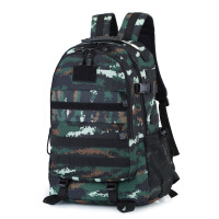 户外背包虎斑迷彩战术双肩包男3D旅游野营登山包特种作战双背包