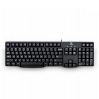 罗技K100 有线键盘 台式电脑办公游戏键盘 PS/2圆孔接口 防水轻薄