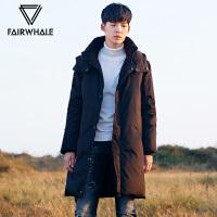 马克华菲中长款羽绒服男2017冬季新款连帽长款修身韩版加厚外套潮