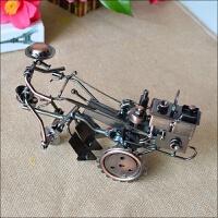 复古铁艺拖拉机金属模型摆设创意书桌家庭家居装饰工艺品书架摆件