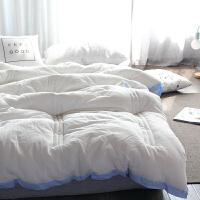 全棉水洗棉冬季棉被双人1.8m米床双人宾馆被子被芯冬被花边春秋被