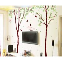 家装可移除优雅树墙贴纸客厅电视墙沙发背景卧室浪漫装饰餐厅贴画 大
