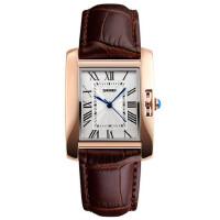 女士钢壳皮带石英手表防水时尚简约商务时装表个性女表腕表