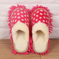 秋冬擦地拖鞋可拆洗家居清洁拖鞋儿童地板懒人拖地拖鞋套