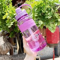 大容量塑料水杯女便携夏天水壶户外运动男防摔吸管军训杯子2000ml
