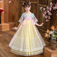 儿童古装中国风唐装女宝宝旗袍夏装公主女孩襦裙