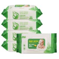 爱恩倍 400片80抽*5包婴儿湿巾 新生婴儿大豆湿纸巾宝宝湿巾带盖