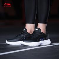 李宁篮球鞋男鞋韦德系列幻夜2018新款李宁云减震一体织春季运动鞋ABAN033