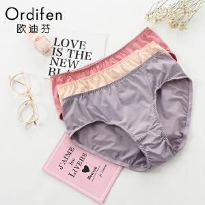 【满199减100】欧迪芬女士内裤 新品 中腰三角 时尚内裤XP7208