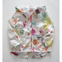 火烈鸟和西瓜 这好像是夏天的感觉 轻薄 防风 女宝宝防晒双层外套