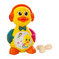 儿童玩具 大黄鸭电动玩具会下蛋宝宝儿童早教益智礼盒装生日礼物 明黄色 官方标配