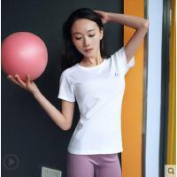 运动上衣女短袖宽松健身服速干T恤圆领透气瑜伽跑步罩衫