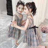 女童夏季连衣裙背心裙中大童休闲吊带公主裙