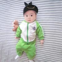 蓓莱乐婴儿童装套装春秋女宝宝0岁1个月3春装2男童4卫衣服6外出服