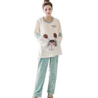 慈颜哺乳期睡衣秋冬季产后孕妇坐月子服加厚喂奶家居服套装FJC878